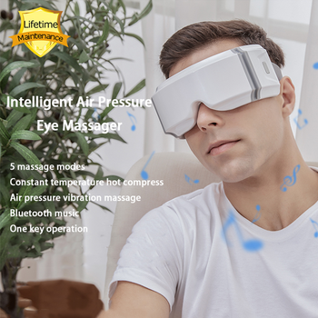 5D Smart Airbag Vibration Eye Massager Portable Eye Protector Hot Compress Bluetooth Improve Eyesight Relieve Eye Fatigue