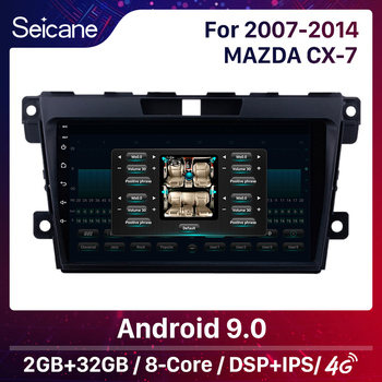 Seicane 2DIN DSP Android 10.0 Car GPS Navigation Radio Multimedia Player For 2007 2008 2009 2010 2011-2014 MAZDA CX-7 cx7 cx 7 image