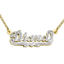 HIYONG Personalized Name Necklace Big Pendant Fascinating Custom Customized for Men Women