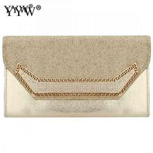 Gold Envelope Bag Clutch Evening Party Luxury Purse Feashion Chain Crossbody Bags For Women 2019 Sac Main Femme Wedding Handbag