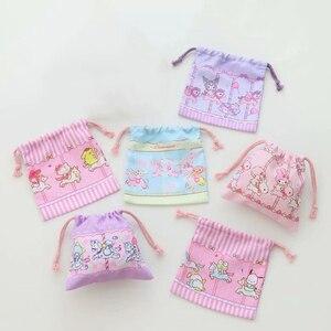 Figuras de acción de Kuromi para niños y niñas, bolso monedero de bolsillo con cordón y melodía, 1 unidad