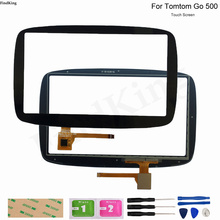 GPS Touch Screen Panel Glass For Tomtom GO 500 GO 5000 GPS Repair Replacement Part Touch Screen Digitizer Sensor Tools Adhesive