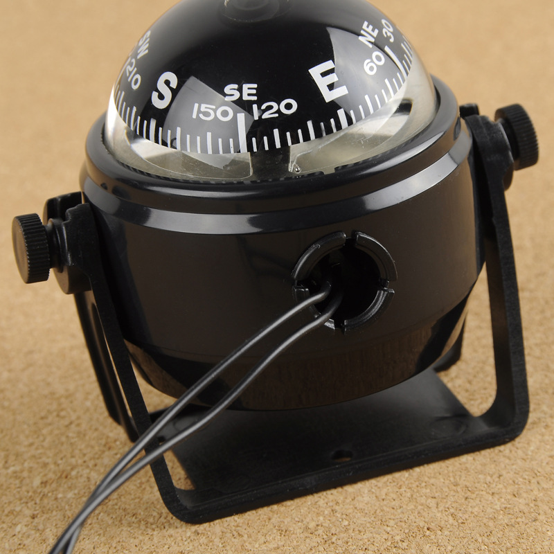 Electronic Military Marine Ball Night Vision Compass Oversea Multi-Purpose Sea Marine Bracket Compass For Boat Vehicle Hiking
