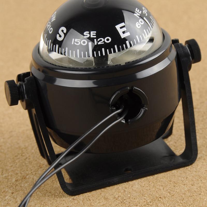 Electronic Military Marine Ball Night Vision Compass Oversea Multi-Purpose Sea Marine Bracket Compass For Boat Vehicle Hiking