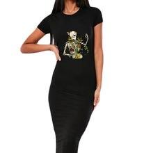 Женское облегающее платье с коротким рукавом в стиле ретро летнее