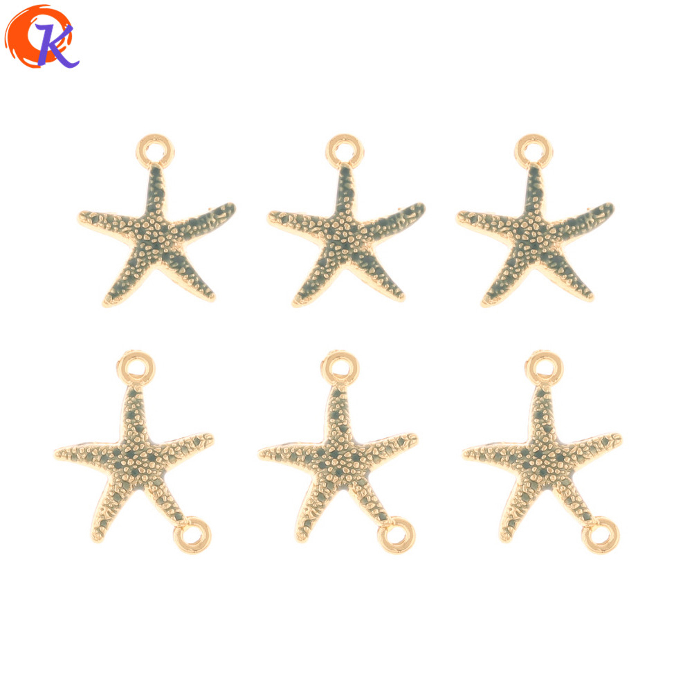 Cordial Design 100Pcs Jewelry Accessories/Charms/Connectors/Paint Effect/Starfish Shape/Hand Made/DIY Making/Earring Findings