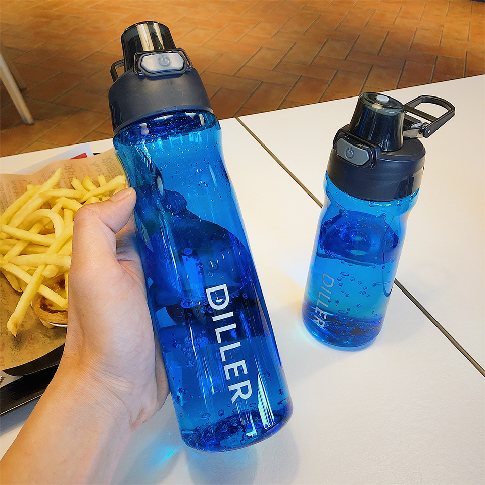 H7e40712efbc045f9b6c2af67d5437c989 DILLER Water Bottle Popular Gray Men Outdoor Sport Travel My Drink Bottle Portable Leakproof Plastic Milk fruit gym Bottles