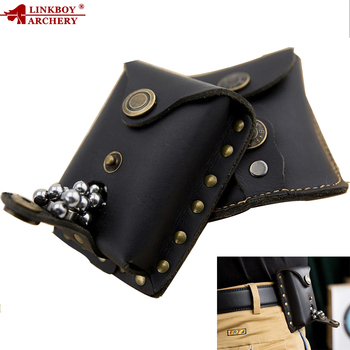 1pc Slingshot corium Stainless Steel Balls Bag Case Pouch Holster Sling Shot Hunting Sports Accessories шарики для рогатки 2