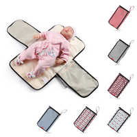 New 3 in 1 Waterproof Changing Pad Diaper Travel Multifunction Portable Baby Diaper Cover Mat Clean Hand Folding Diaper Bag