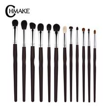 CHMAKE 12PCS Eye make up brush set  eyebrow blending brushes for eyeshadow goat horse synthetic hair makeup brushes tools недорого