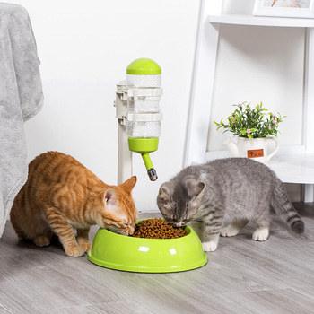 Cat Bowl Feeder Water Feeder Automatic Pet Cat Food Basin Water Dispenser Bowl Double Bowl Cat Drinking Water Cat Fountain