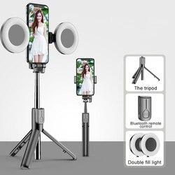 Bezprzewodowy Bluetooth Selfie Stick dla iPhone 11 Pro 7 8 dla Samsung Galaxy składany ręczny Monopod migawki zdalny statyw