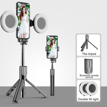 Wireless Bluetooth Selfie Stick For iPhone 11 Pro 7 8 For Samsung Galaxy Foldable Handheld Monopod Shutter Remote Tripod