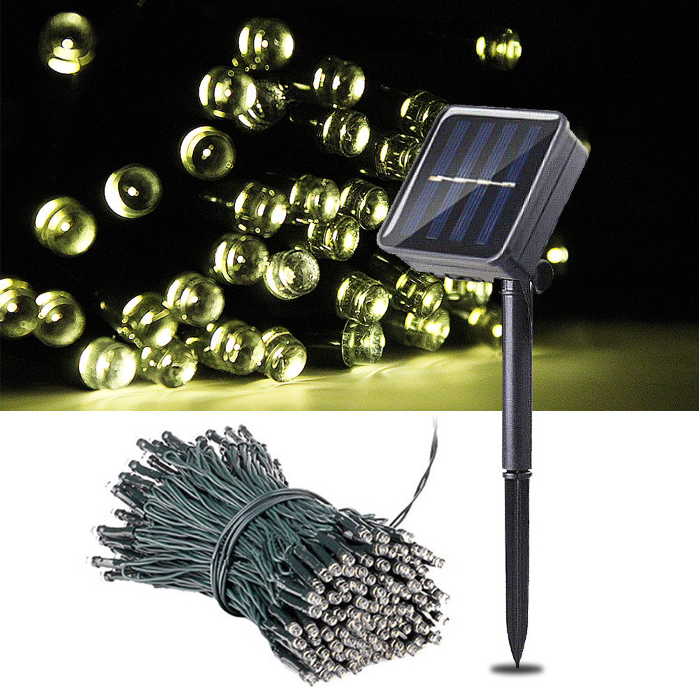 100 LED Garden Lights Outdoor Solar Garland LED Fairy Lights Solar Powered Lawn Lamps Path 3 Mode Christmas Lighting Waterproof