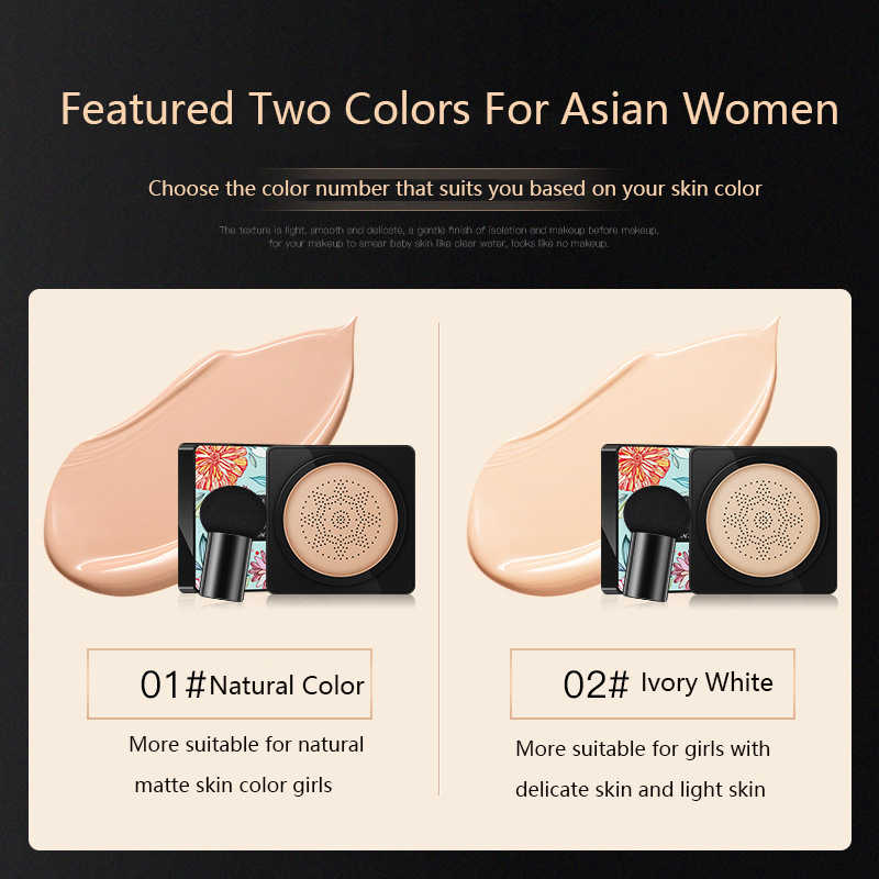 BB coussin d'air fond de teint coréen champignon tête CC crème correcteur blanchiment maquillage cosmétique imperméable à l'eau éclaircir visage Base ton M