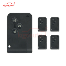 цена на Kigoauto 5pcs 433Mhz PCF7947 3 button for Renault Megane II  Megane 2 Scenic II Grand Scenic II 2004 2005 2006 smart Key card