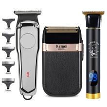 1 ensemble tondeuse à cheveux pour homme Rechargeable tête à baldaquin tondeuse électrique Machine rasage rasoir sans fil barbier coupe de cheveux rasoir