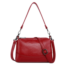 Genuine Leather Women Messenger Bags Small Crossbody Bags For Women Shoulder Bag Female Handbags High Quality Vintage Shell Bag 2018 women bag genuine leather crocodile pattern handbags women messenger bags crossbody female small shoulder bag