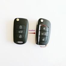 С логотипом, Модифицированный Корпус для дистанционного ключа для Hyundai I20 I30 IX35 I35 Accent Kia Picanto Sportage K5, корпус для дистанционного ключа