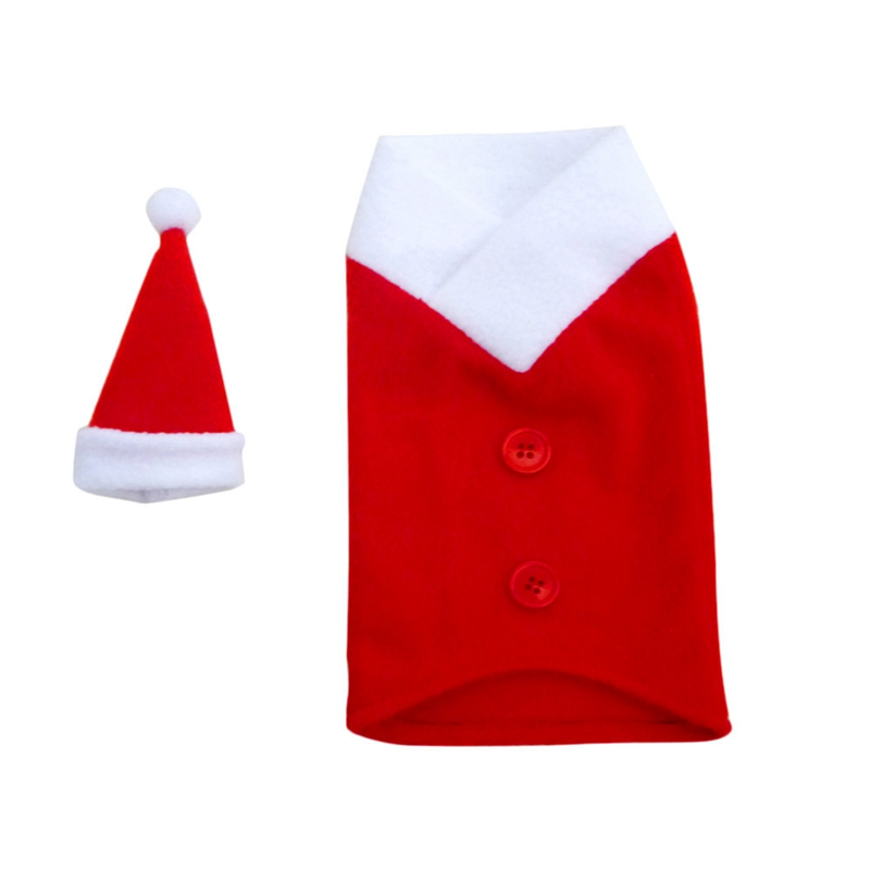 Red Wine Bottle Cover Bags Decoration Home Party Santa Claus Christmas Wine Bottle Covers Clothes With Hats For Dinner Party
