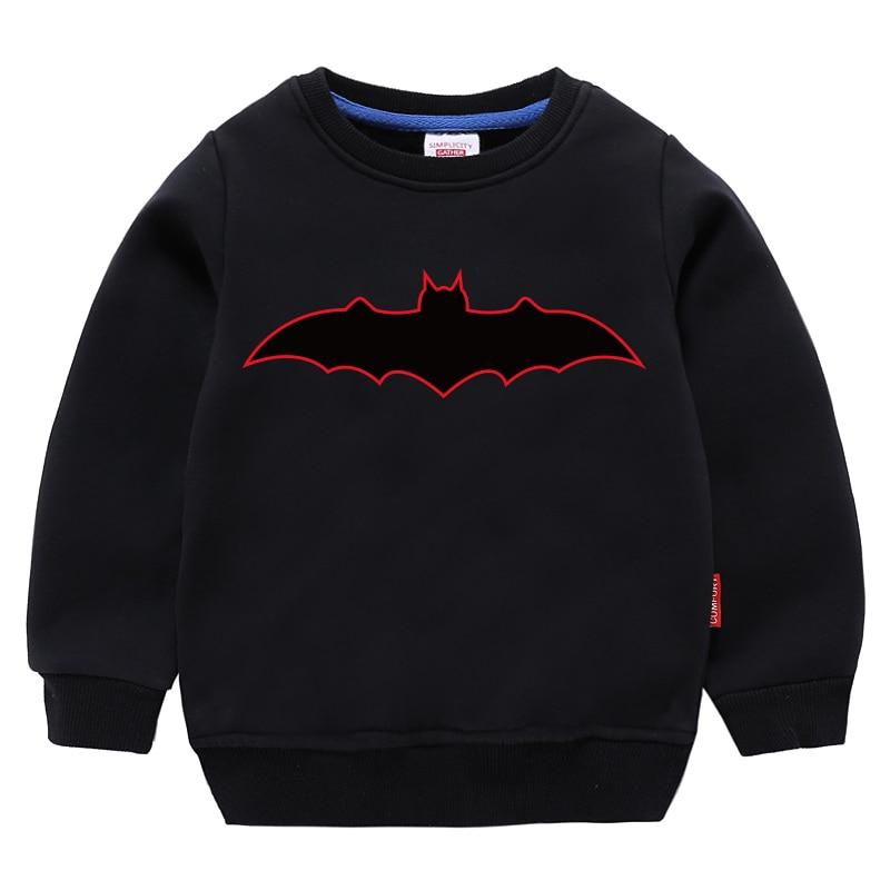 Children Sweatshirt Kids Boys Girls Toddler Hoodies Tops Clothing Autumn Print Bat Spring Clothes Black Cartoon Long Sleeves 1