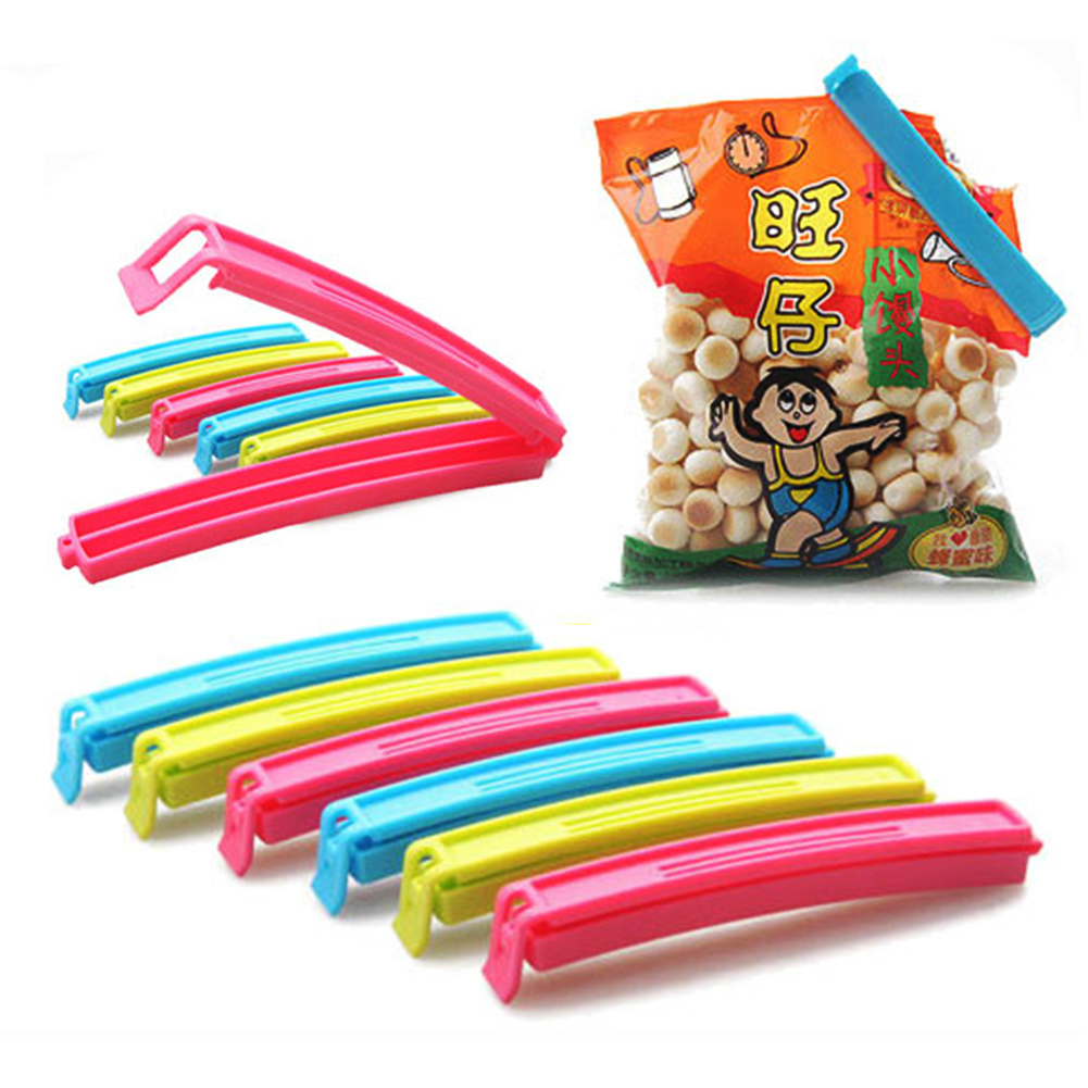 6X Bag Clips Keep Fresh Bag Clips Food Stay Crisp Packet Peg Seal Gadget