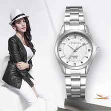 CHENXI Lady Rhinestone Fashion Watch kobiety zegarek kwarcowy zegarki damskie damska sukienka zegar xfcs relogio feminino tanie tanio QUARTZ Składane zapięcie z bezpieczeństwem CN (pochodzenie) STAINLESS STEEL 3Bar Biznes 14mm ROUND Odporne na wodę Hardlex