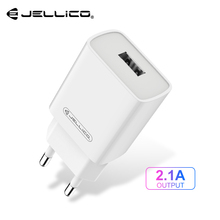 Jellico USB Charger For Mobile Phone EU Wall Charger 5V 2 1A USB Type C Fast Charger for iPhone Samsung Xiaomi Phone PD Charger cheap WJ-C58 5V 2A ROHS Travel