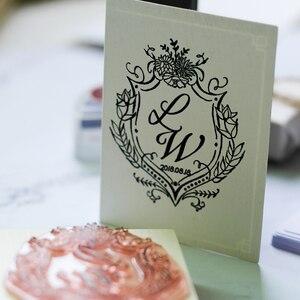 Image 5 - מותאם אישית עיצוב גומי חותמת עץ רכוב רעיונות חתונה יום הולדת חג המולד ברכה כרטיס אריזת מתנה אלבום תמונות DIY