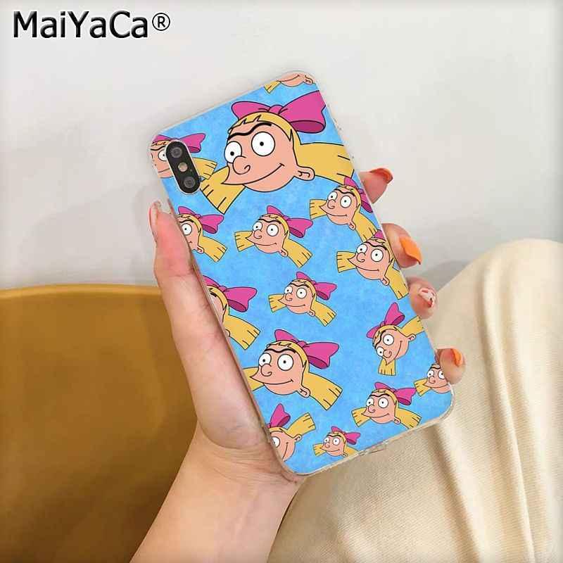 MaiYaCa bande dessinée drôle Hey Arnold Helga amour TPU coque de téléphone transparente pour iphone 11 pro 8 7 66S Plus X XS MAX 5S SE XR