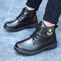Ботильоны для мальчиков; детская водонепроницаемая обувь; кожаная водонепроницаемая обувь; сапоги Martin для девочек; хлопковая повседневная ...