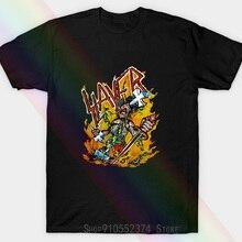 Vintage Slayer Band Reign In Pain 1987 Tour Unisex T-shirt Black M621