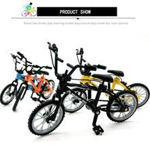 Мини-палец набор фанаты велосипедов игрушка сплав палец BMX функциональный детский велосипед модле палец велосипед отличное качество игрушечные велосипеды BMX подарок