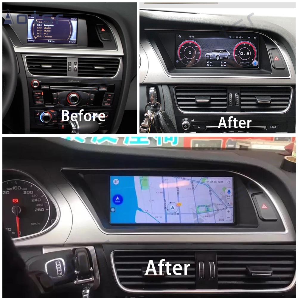 4+64GB Android 9 For Audi A4 A4L A5 B8 8K 2009-2012 Stereo GPS DVD Radio Screen Monitor MMI 2G 3G MIB  Multimedia Radio Tape Rec