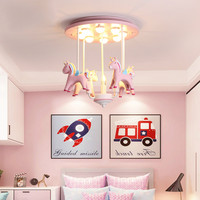 Creative Resin Pink Pony Ceiling Light Kid Lovely Girl Children Room Bedroom Kindergarten Decoration Lighting lamp YHJ011417