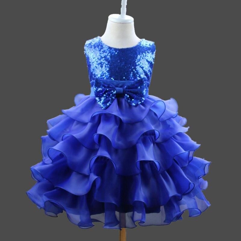 Children Wedding Dress Girls Sequin Princess Tutu Big Boy Gauze Cake Dress Childrenswear Wholesale