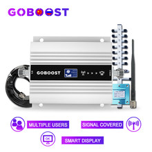 Goboost lte 4g dcs 1800mhz amplificador de sinal celular display lcd telefone móvel 4g impulsionador de sinal gsm repetidor 2g 3g 4g