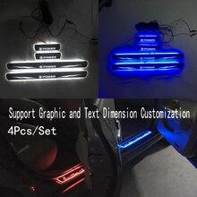 Для e power двери Динамический светодиодный светильник порога Накладка приветствуется педаль; автостайлинг мерцающие дверные пороги освещение для Nissan E POWER