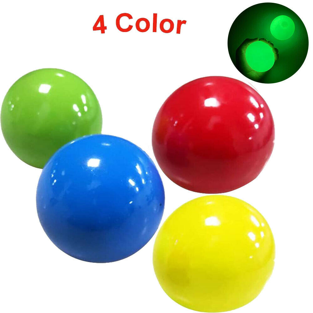 Toy Luminous Decompression-Toys Wall-Ball Sticky-Balls-Stress Christmas-Gift Reliever img3