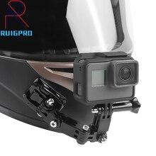 Accesorios para Gopro, soporte de botón giratorio de 4 vías, Go Pro Hero 4 5 6 7 8 9 SJCAM EKEN H9 H9R, brazo de soporte de barbilla para casco de motocicleta