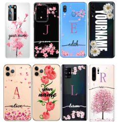 На Алиэкспресс купить чехол для смартфона custom design diy name text case cover for samsung a51 note10 plus a40 phone shell for iphone 9 se2 11 for huawei p40 mate30 pro