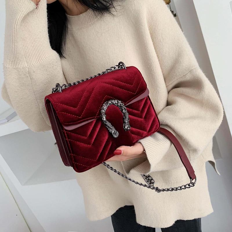 Luxury Handbags Women Bags Designer Vintage Velvet Clutch Purse Shoulder Bag Small Crossbody Bag For Women 2019 Bolsa Feminina
