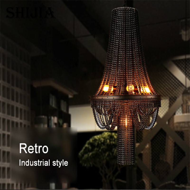 Retro Personality Creative Bicycle Chain Pendant light for Bar Restaurant Cafe Decoration Lighting - 4