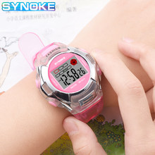 SYNOKE Kinder Sport Uhr Kinder LED Digital Uhren Chronograph Silikon Band Wasserdicht Mädchen Jungen Armbanduhr Uhr Stoppuhr