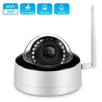 Audio 5MP Dome Wifi Camera Metal H.265 3MP IR visione notturna telecamera IP 1080P HD Ai rilevazione umana P2P Smart Home videosorveglianza