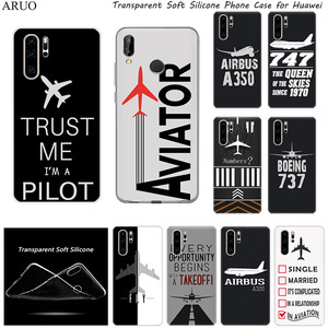 Airplane DIY Airstrip Number SOFT TPU Silicone Phone Case for Huawei Y9S Y7P Y6S P40 P30 Pro P20 lite Nova 5t 5 6 P-SMart Z Plus(China)