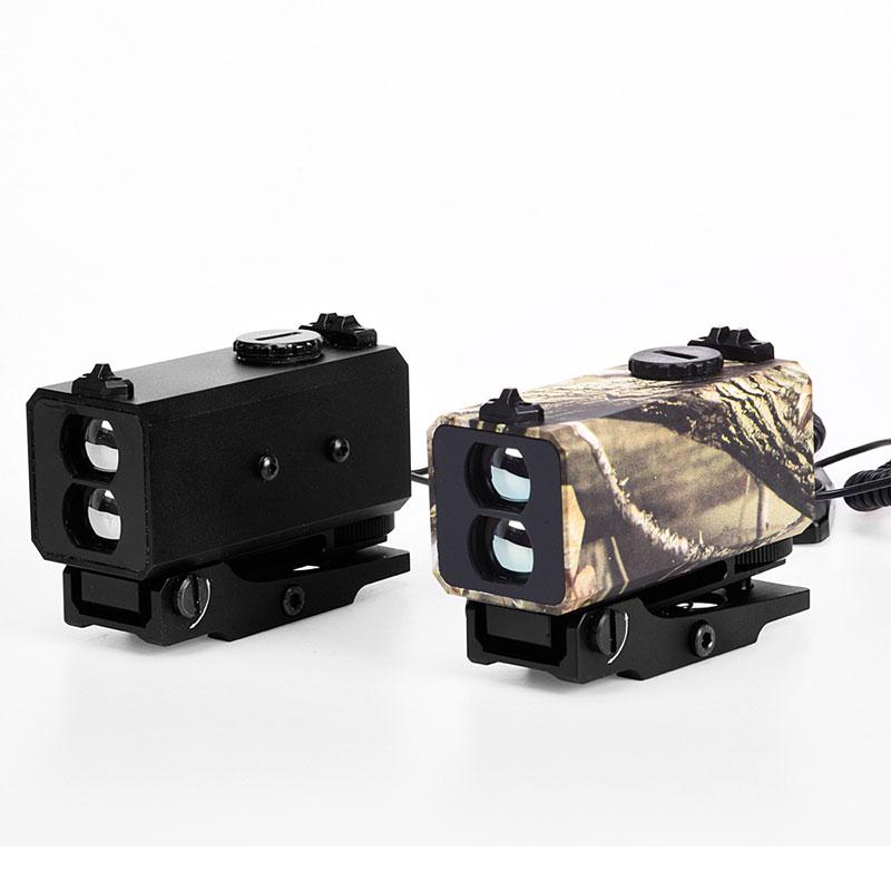 Long range 700m rangefinder rifle mounted night hunting mini laser range finder monocular rail mounted riflescope measure distance at night