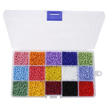 7500pcs/set  Mix Color 3mm Glass Beads for DIY Jewelry Making Loose Findings&Components