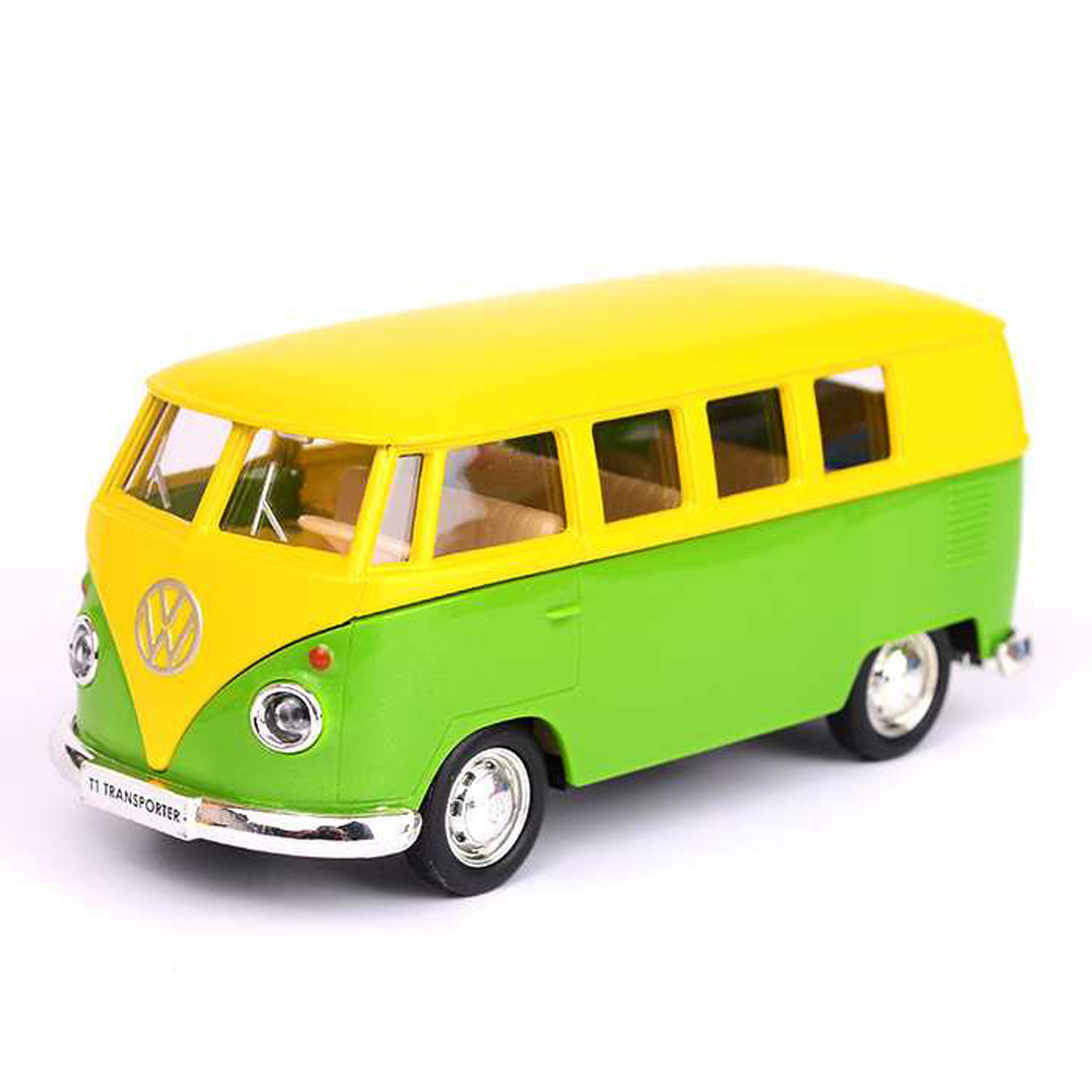 Alloy Metal Car Model VW T1 Bus Yellow Collection Diecast Model Car Toy Vehicles For Boys Car For Children