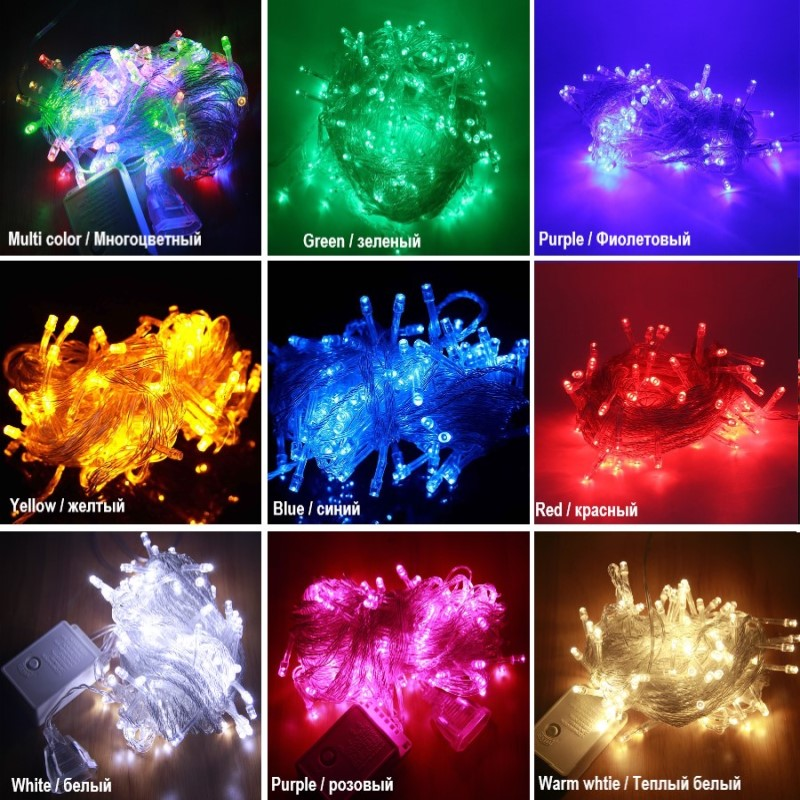 LED Street Garland String Lights 10/20M 30M 50M Christmas Lights Outdoor EU Plug Garden Trees New Year Decoration Holiday Lights
